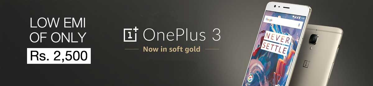 one-plus-three-1-plus-3-low-emi-amazon-exclusive-discount-deal-one-plus-3-best-deal-india